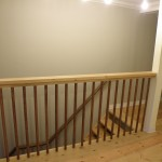 top landing and railing in upstairs reception