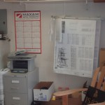 WALL RACK K5 HOLDS 150 PLANS IN AN ADERA SITE TRAILER