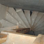 circular back stair in warehouse