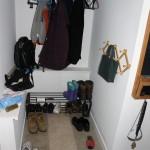 coat and shoe rack