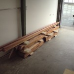 stair and railing ready to ship with three coats of varnish