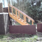 stairs put in place nicer than rest of house