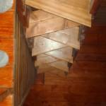alternating steps as it is a steep stair
