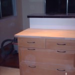 deep pull out drawer for easy acces instead of cabinets with shelfs