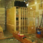 WALL READY TO BE SKINNED WITH 3/8 PLYWOOD