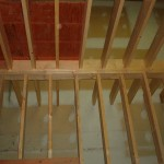 JOIST  BLOCKED TOWARDS STAIR WELL FOR FIRE PROTECTION AND STABILITY