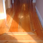 picture frame oak pine in hallway