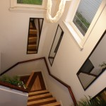 birch ,dark stained maple,SPF nosing and oak railings stained bombay