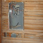 old electrical box partly live hidden in wall