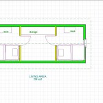 2 bedroom, 24x10 fotprint, second  floor layout