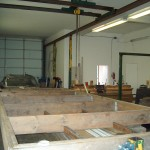 DOWNSTAIRS SHOP WITH OVERHEAD CRANE