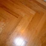 prefinished oak 3 /12 inch fishbone in hallway