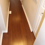 solid bambo flooring and quarter round trim