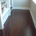 refinished fir floor in heritage house